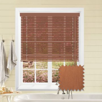 Red Cedar Wood Look Aluminium venetian blind